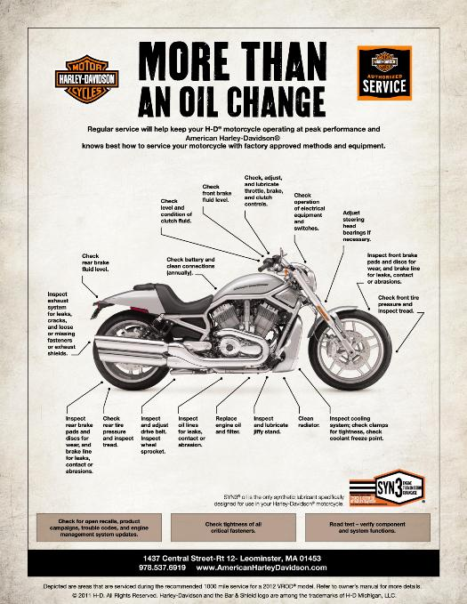 Oil changes and more available at American Harley-Davidson