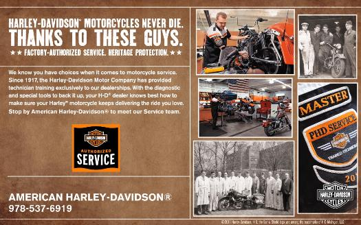 Factory-authorized service and heritage protection at American Harley-Davidson