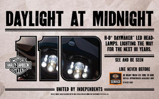 H-D Daymaker LED Headlamps available at American Harley-Davidson