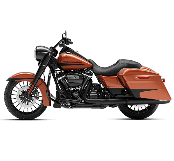 Orange and Black Harley-Davidson Motorcycle